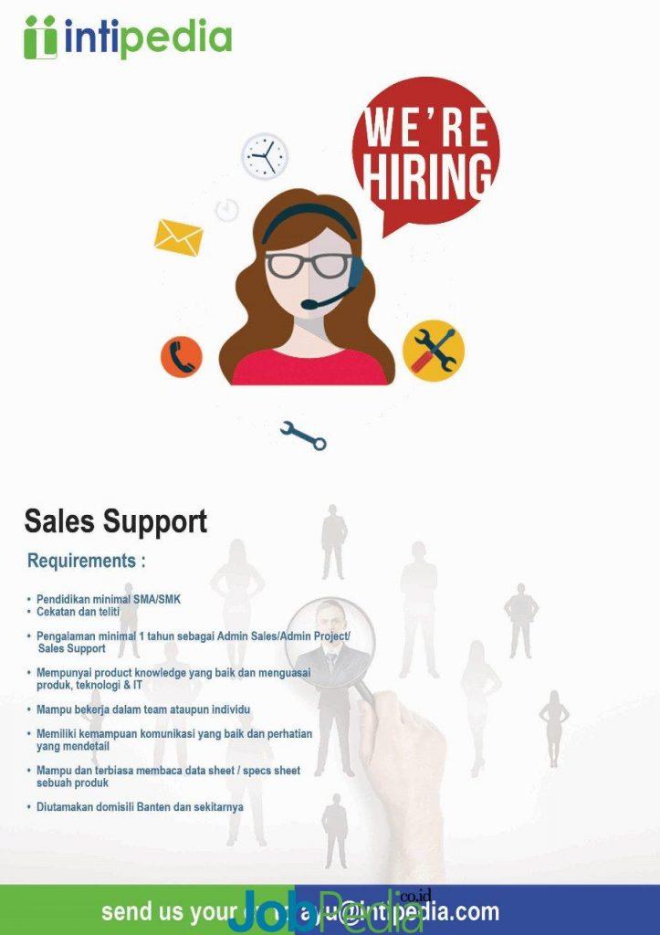 lowongan kerja admin sales pt intipedia lentera indonesia